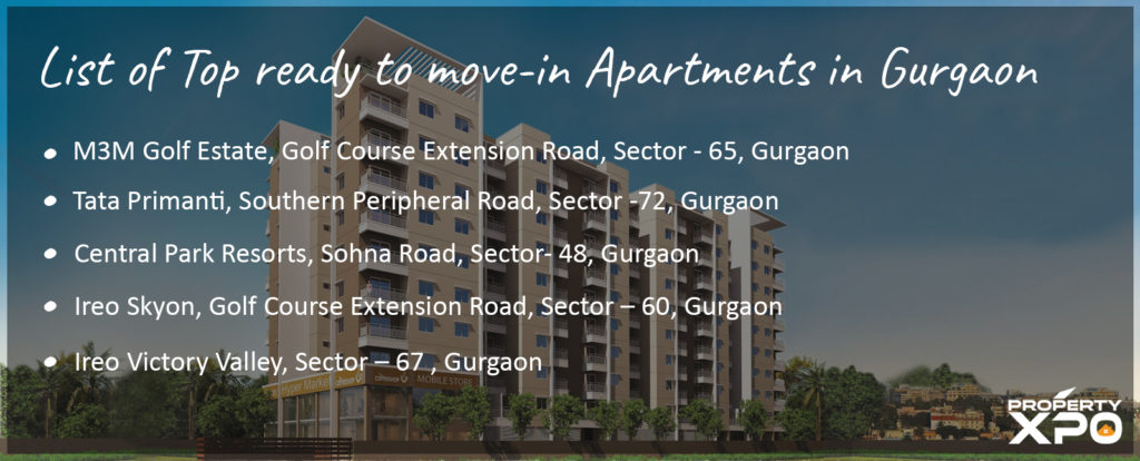 list of top apartments in gurgaon